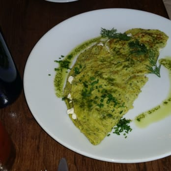 ... . Green eggs and ham. Not!!! Green Omelet (with feta)!!!! So good