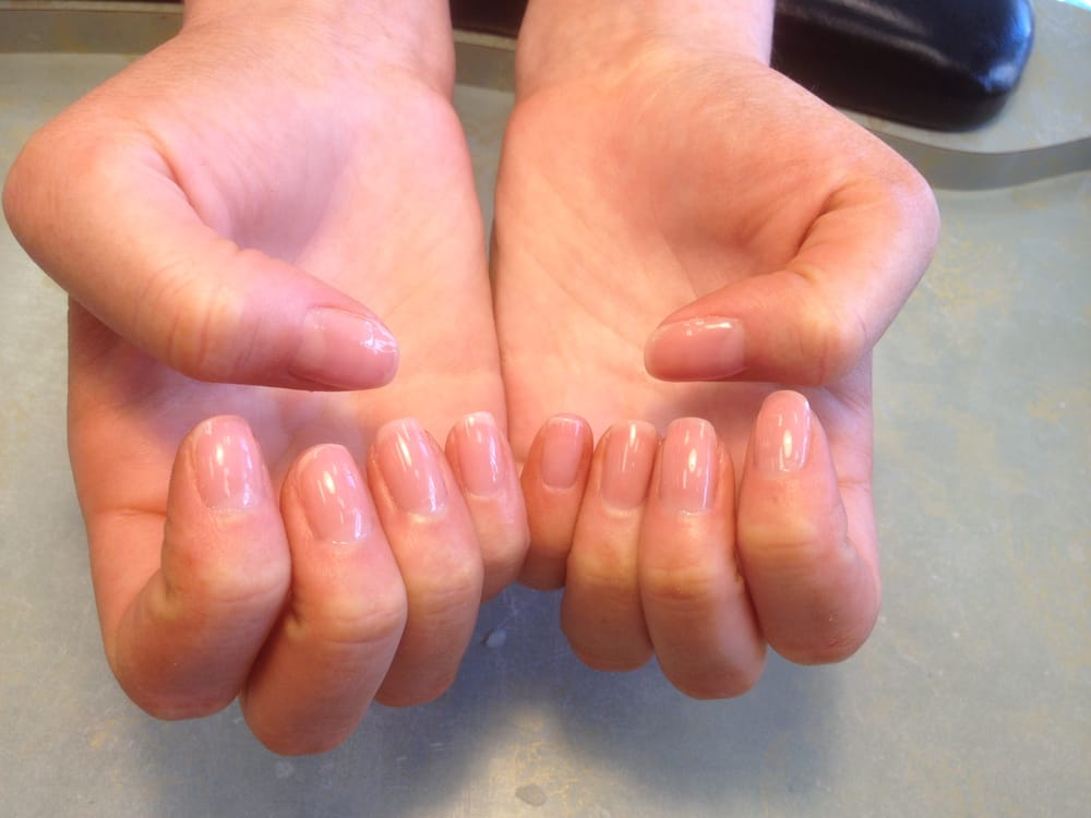 Gel Manicure in CND Shellac color Nude Knickers - Yelp