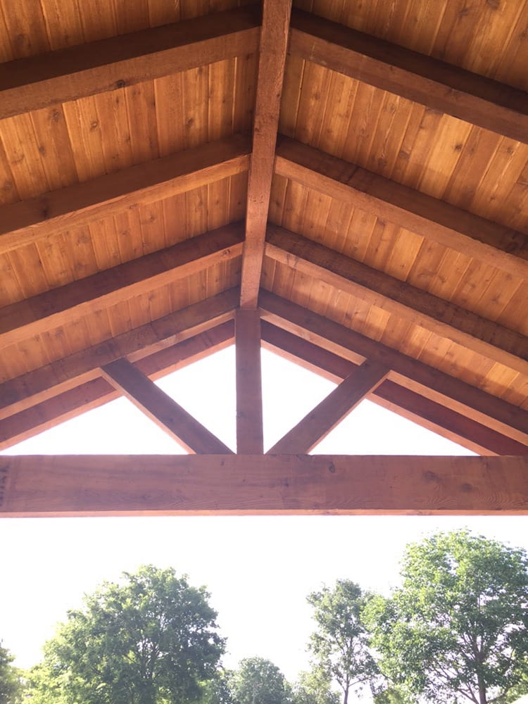 Photo Of Backyard Paradise   Montgomery, TX, United States. Gable Roof  Cover Built