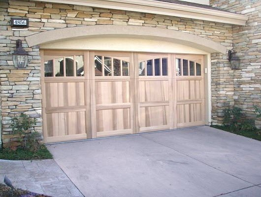 Residential garage door carriage house stained yelp for Brentwood garage door