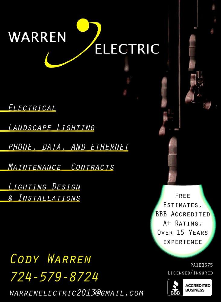 Warren Electric: 402 E Main St, Monongahela, PA