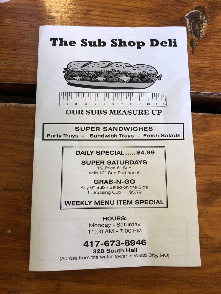 Sub Shop Deli: 328 S Hall St, Webb City, MO
