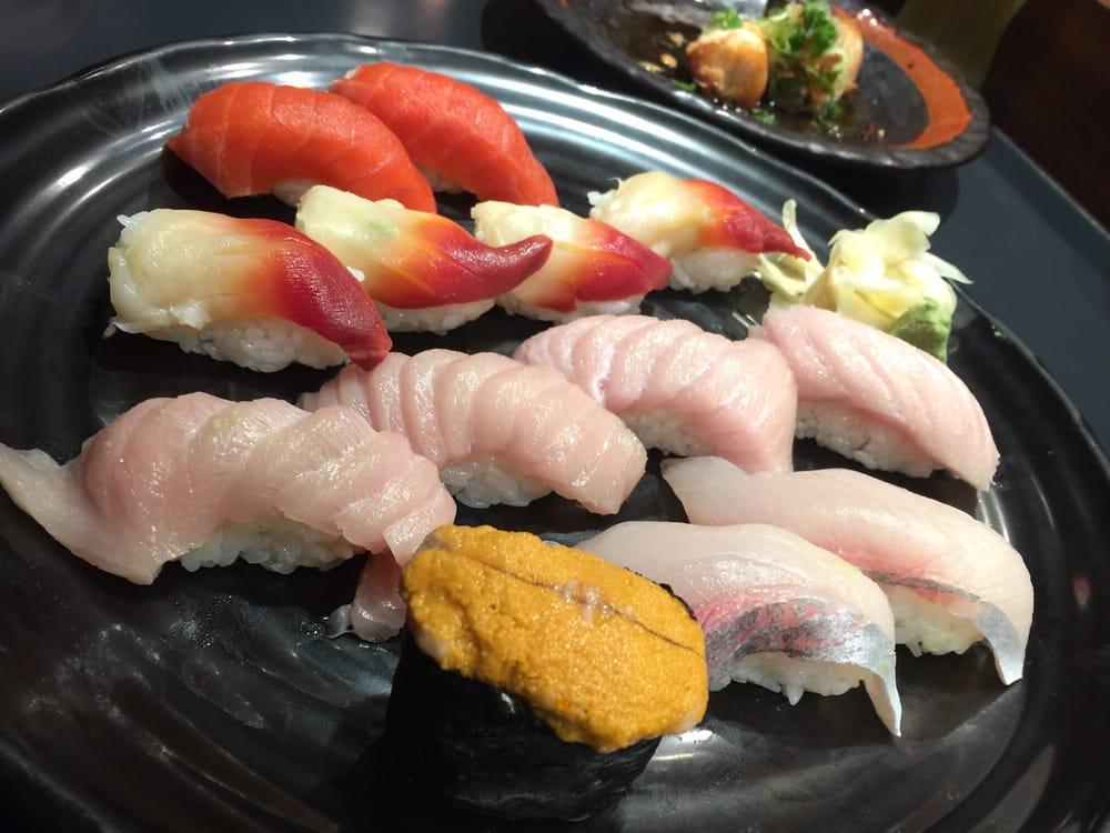 Assortment of fresh sashimi. Uni, Surf Clam, And Toro - Yelp