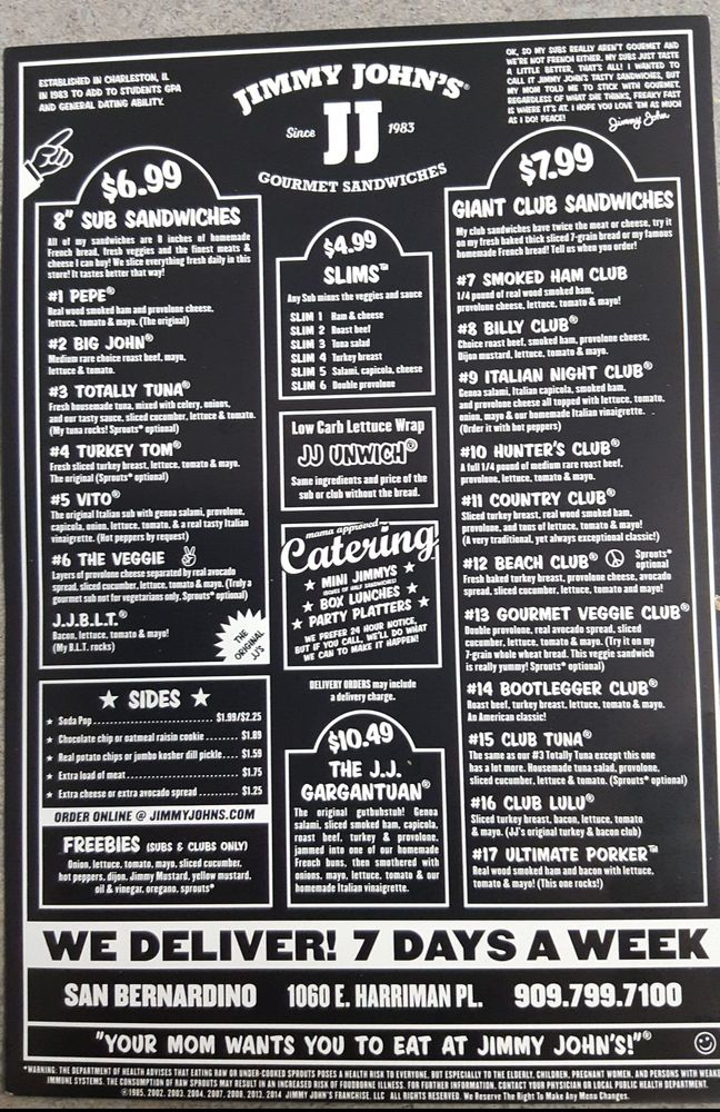 graphic about Jimmy Johns Menu Printable named Jimmy Johns Menu Simplest Motor vehicle Critiques 2019 2020