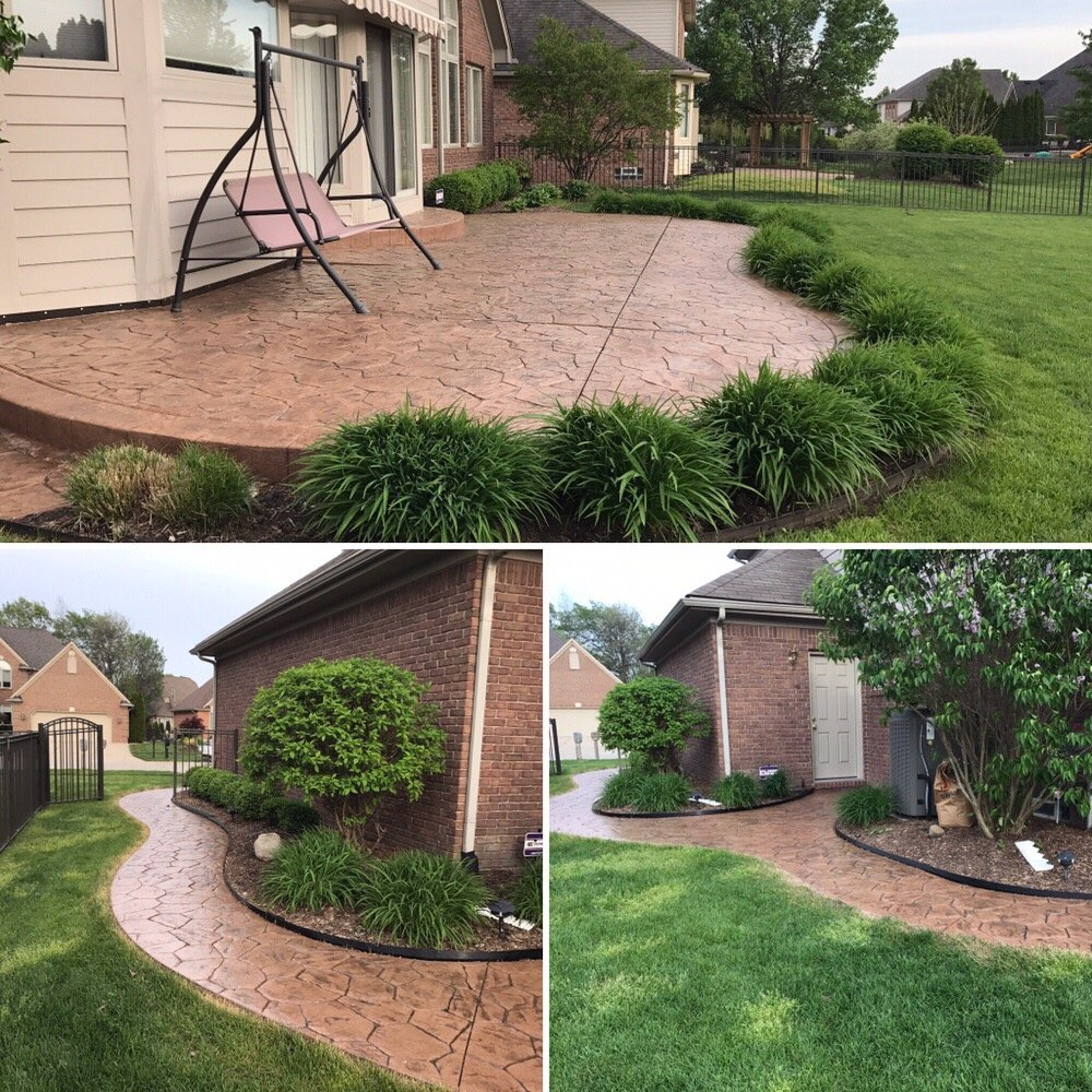 Re- seal job of a stamped patio using super diamond clear