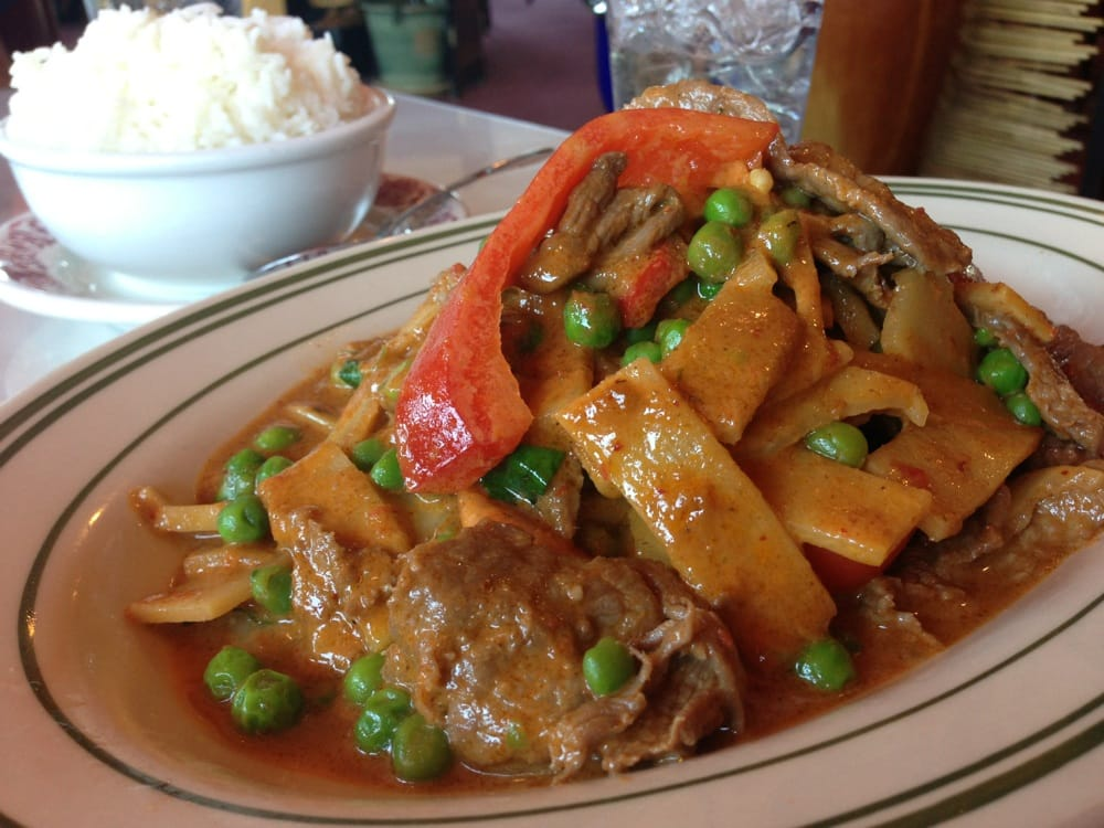 penang beef curry with no egg plant great flavor and spice yelp. Black Bedroom Furniture Sets. Home Design Ideas