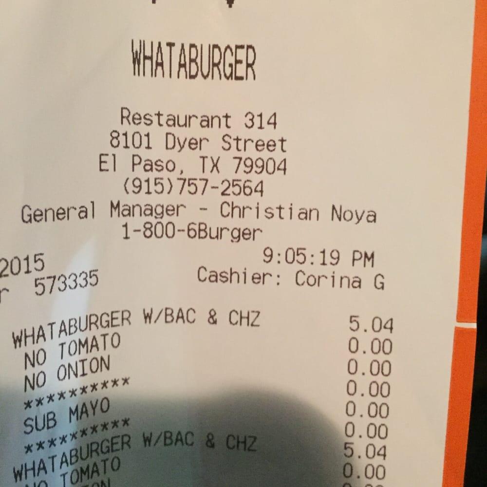 Whataburger - 27 Photos & 11 Reviews - Burgers - 8101 Dyer St, El ...