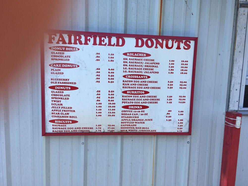 Fairfield Donuts: 612 Teague St, Fairfield, TX