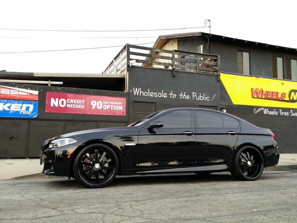 BMW Series On Ace Alloys With All Black Finish - All black bmw