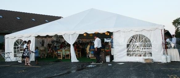40x40 Frame Tent Yelp
