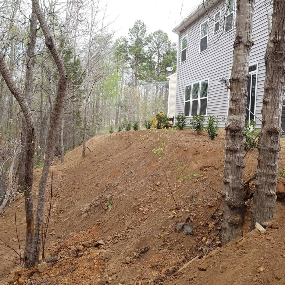 Sloping Garden Ideas And Optimal Solutions For Landscape: This Photo Shows The Slope After Fill Was Placed And