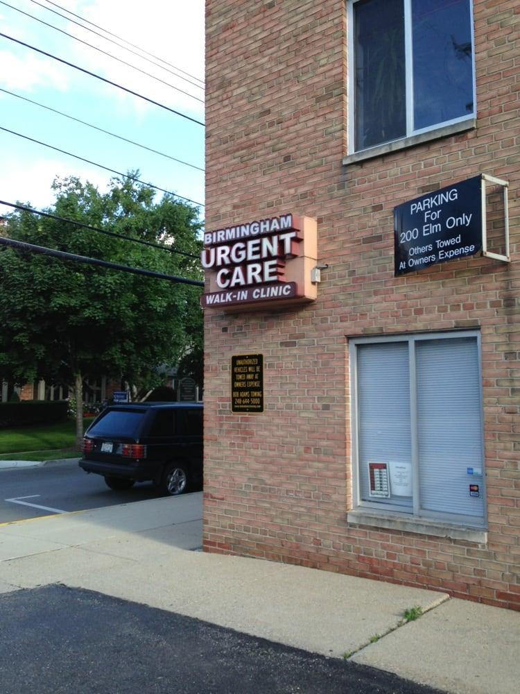 Birmingham Urgent Care: 200 Elm St, Birmingham, MI