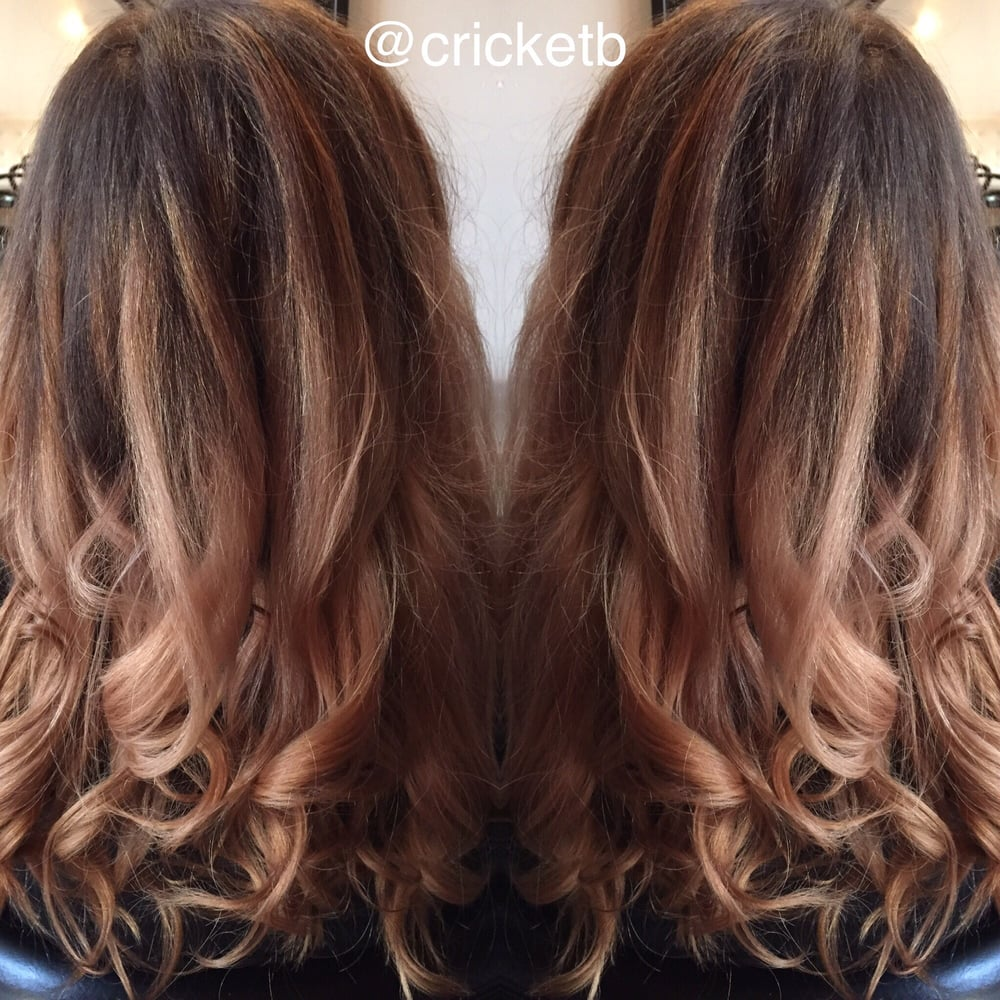 Balayage And Pink Champagne Color By Christi Yelp