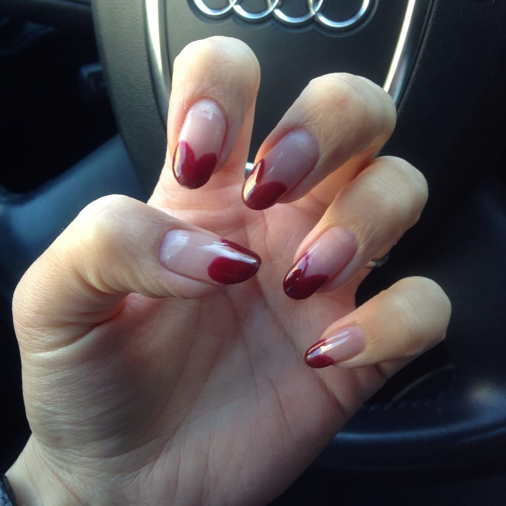 My gel nails that lasted for a month! Heart shape tips! - Yelp
