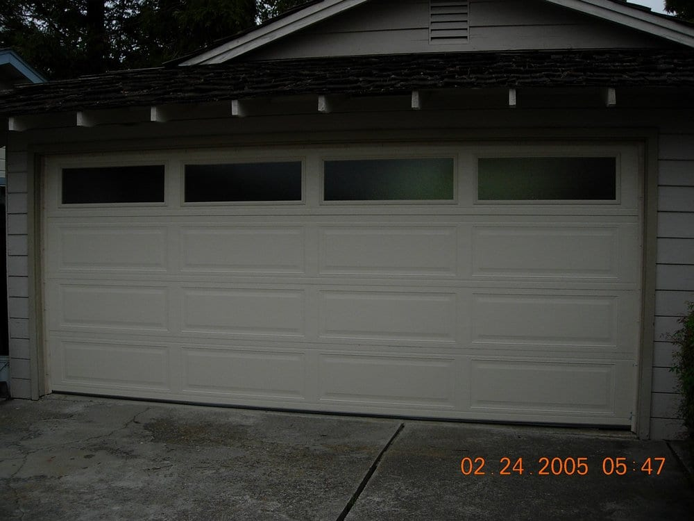 Northwest Garage Door Therma Teck Model 128 W Obscure Plain Windows