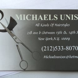 Michaels unisex 10 reviews beards hair salons east village photo of michaels unisex new york ny united states business card and reheart Choice Image