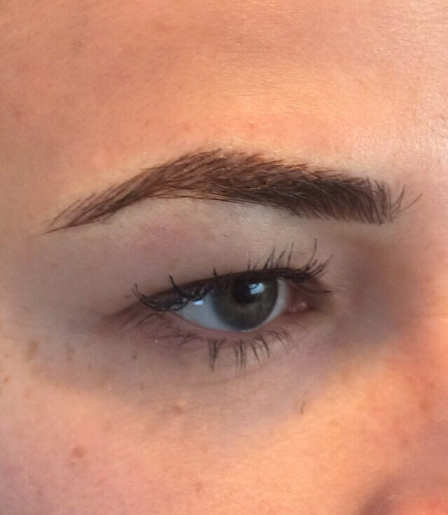 Hair Stroke Feathering Eyebrow Tattoo Immediately After Initial ...
