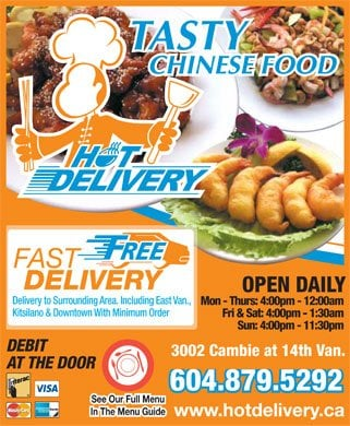 Chinese Food Delivery Vancouver Yelp