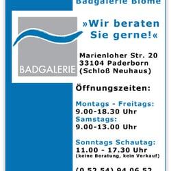 Badgalerie Blome Bad Küche Marienloher Str 20 Paderborn