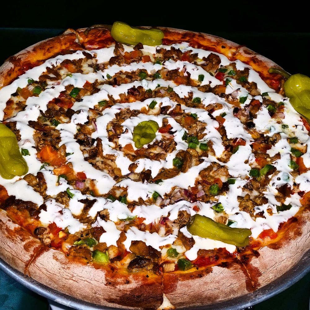 This Is The Supreme Kebab Pizza Nice Touch With The
