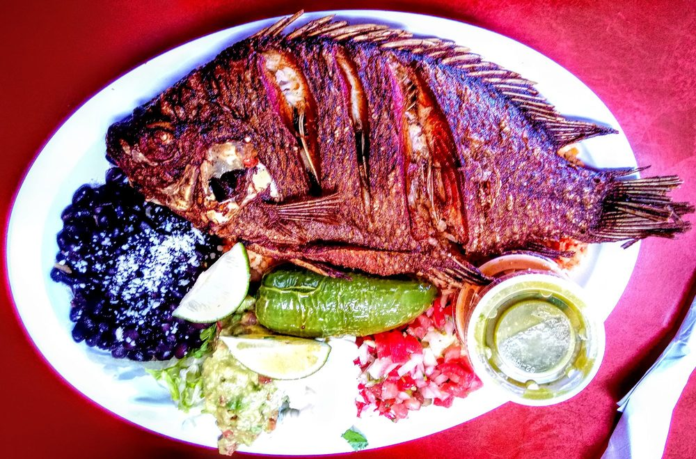 Food from Taqueria El Cabrito