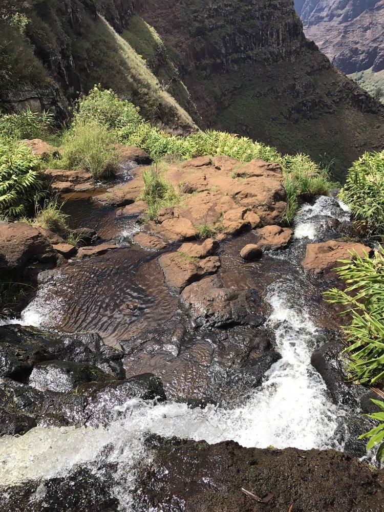 Waipo'o Falls: Kokee State Park, Waimea, HI