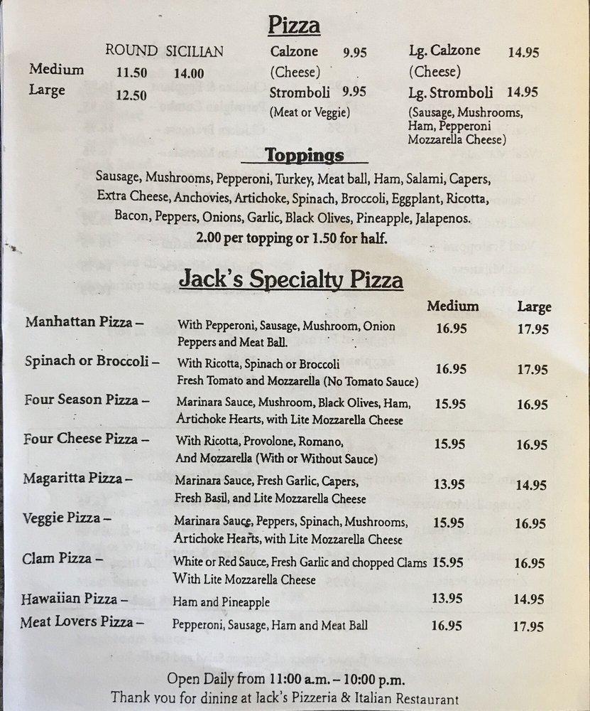 Jack S Pizzeria Italian Restaurant Delray Beach Fl