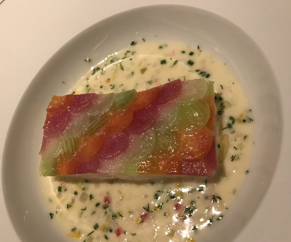 Fish with scales root vegetables - Yelp