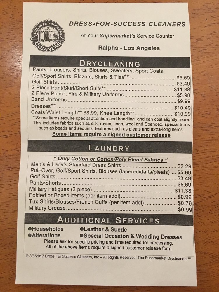 Drycleaners At Ralphs Downtown 14 Reviews Dry Cleaning 645 W