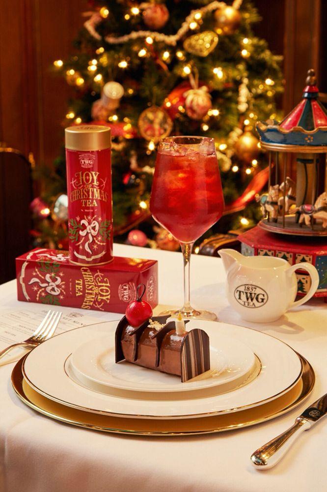 Decoration De Menu De Noel.Twg Tea Infused Buche De Noel A Celebrated Favorite For