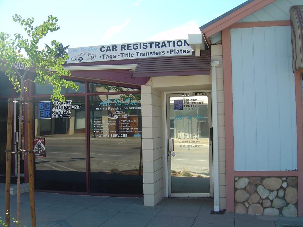 All In One Vehicle Registration Service: 35051 Yucaipa Blvd, Yucaipa, CA