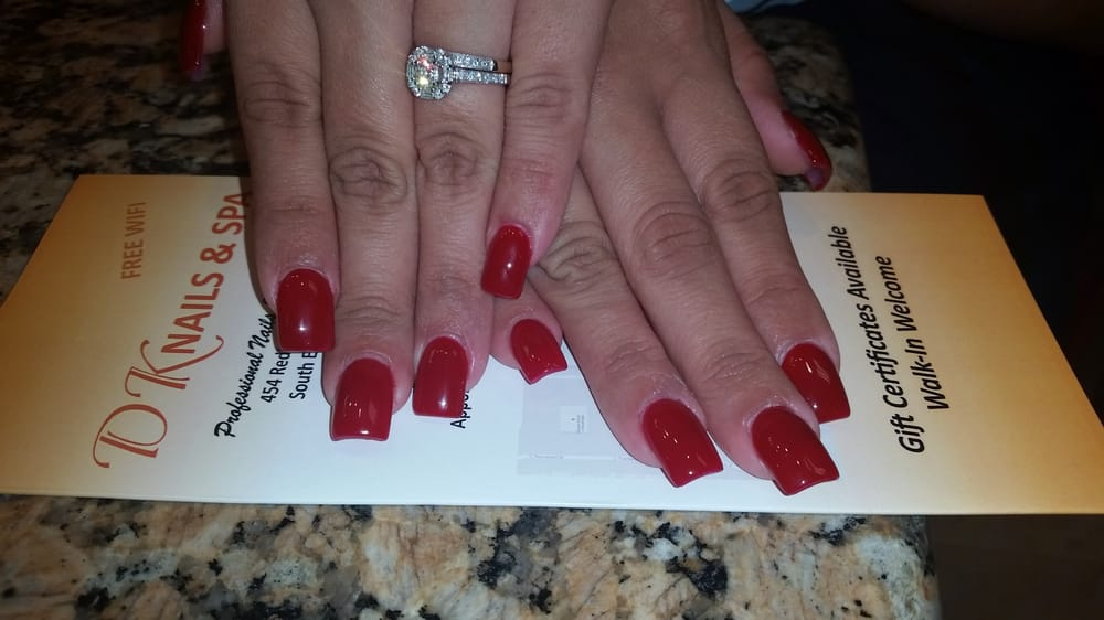 Gel nails with no chip Boston Red DND! - Yelp