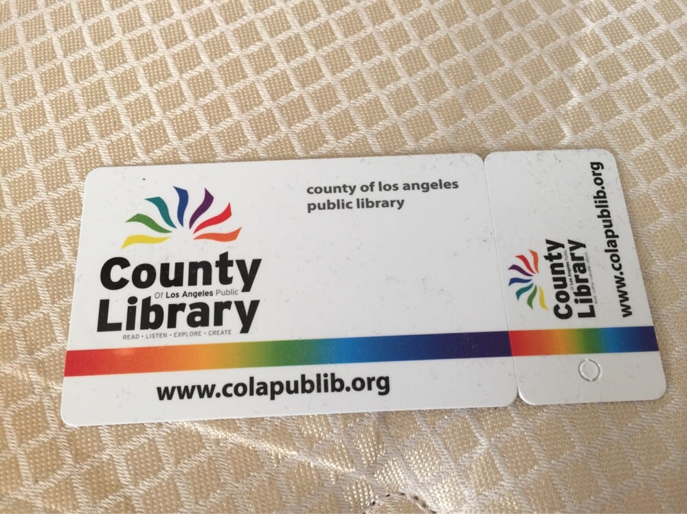 Library card mini key tag card yelp for La county public library