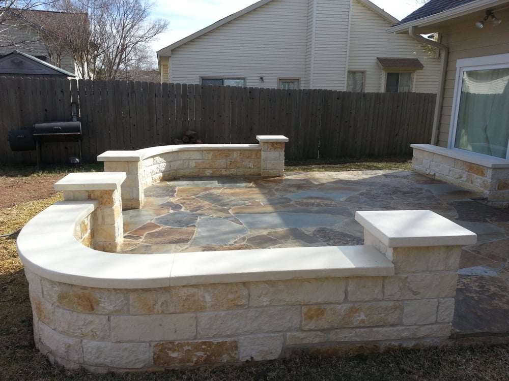 Photo of Austin Yard Builder Masonry Contractor - Austin, TX, United States. Austin patio stone