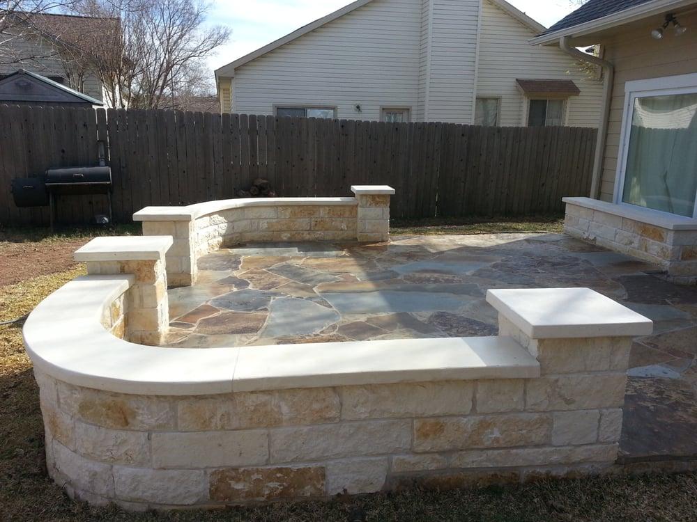 Photo Of Austin Yard Builder Masonry Contractor   Austin, TX, United  States. Austin Masonry And Pergola Services. Flagstone Patio U0026 Stone ...