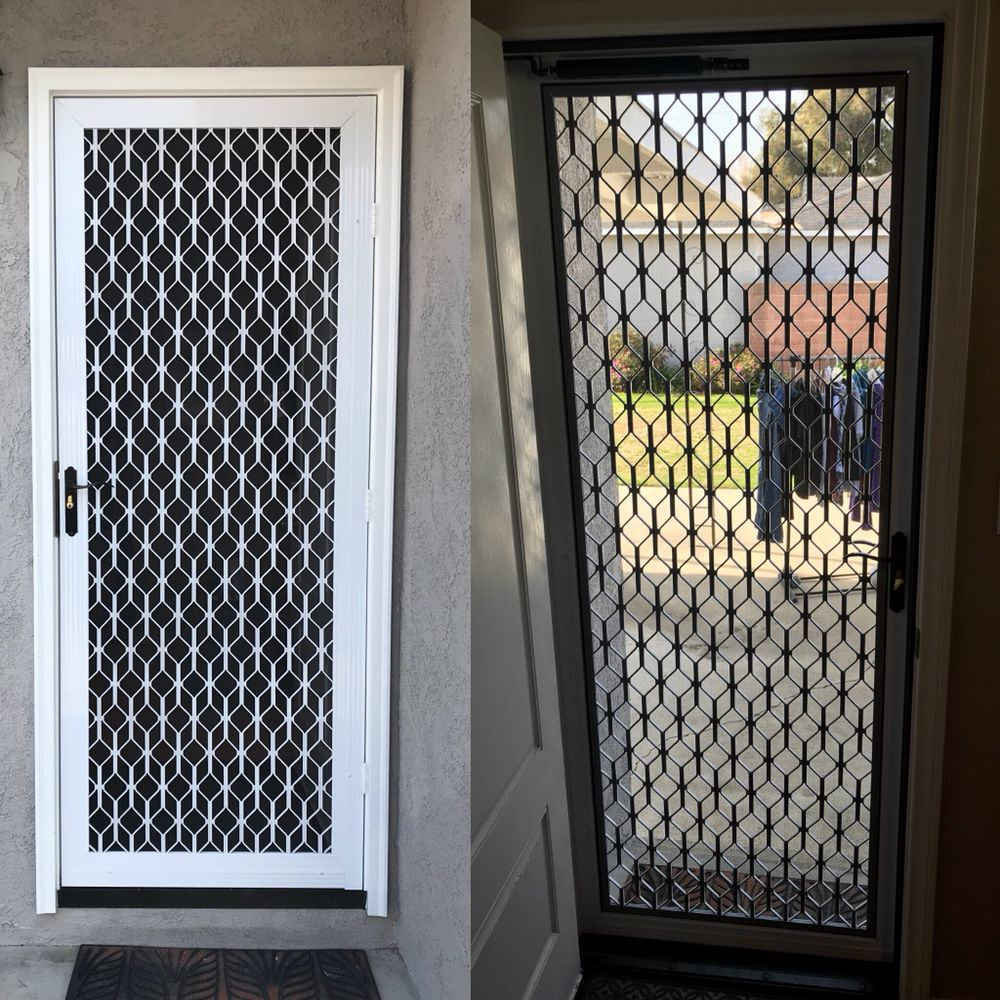 White Gibraltar Security Screen Door 6 Colors Available Yelp
