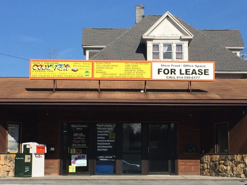 Copy Rite & Banner Zone: 105 Mt Vernon Ave, Huntingdon, PA