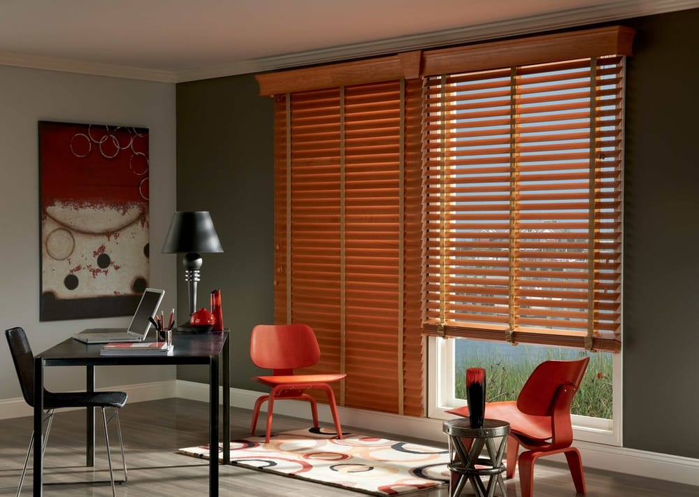 Spice Up Your Space With Cord Lift Wood Blinds Featuring A