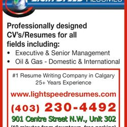 Lightspeed Resumes - Professional Services - 901 Centre Street NW ...