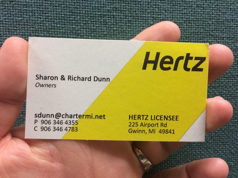 Hertz Rent A Car: 225 Airport Rd, Gwinn, MI
