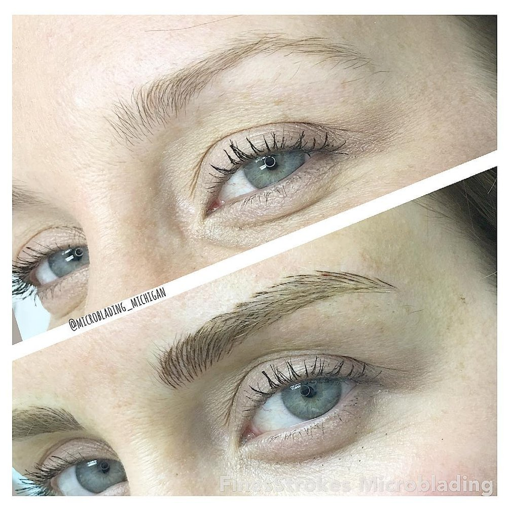 Natural Looking Eyebrow Microblading Fine Strokes Just Like Your