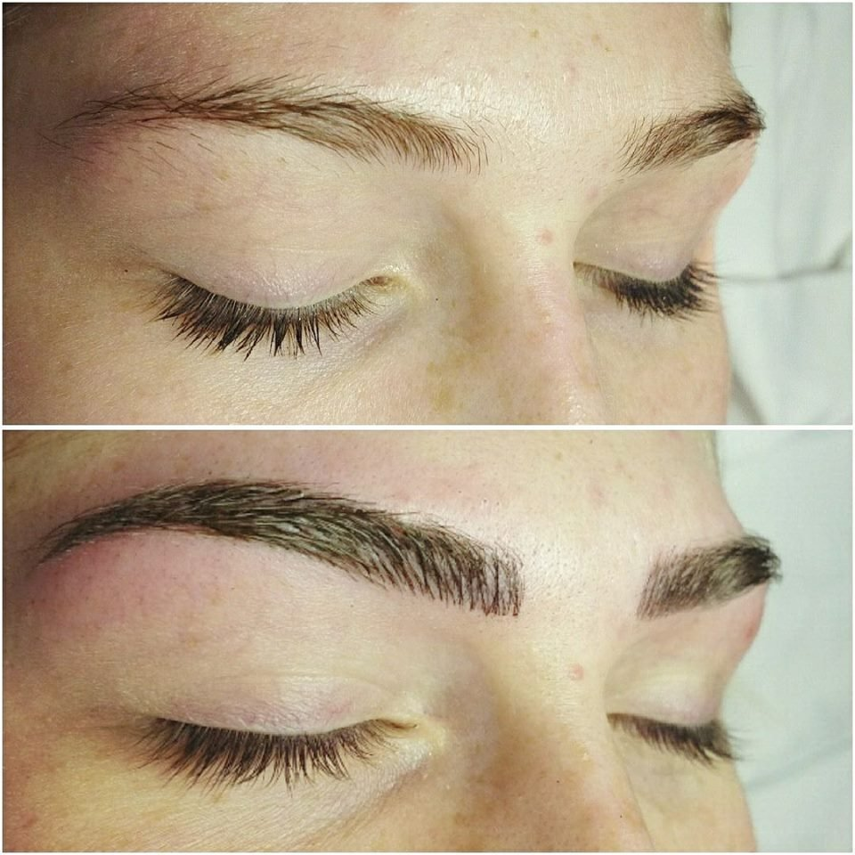 Microblading Semi Permanent Eyebrow Tattoo With Natural Realistic