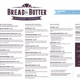 Bread And Butter Kitchen Tulsa Menu