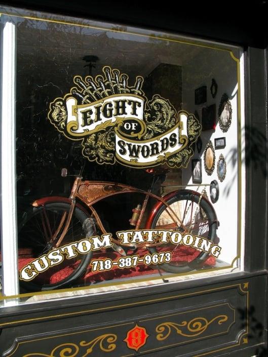 Eight of Swords Tattoo: 115 Grand St, Brooklyn, NY