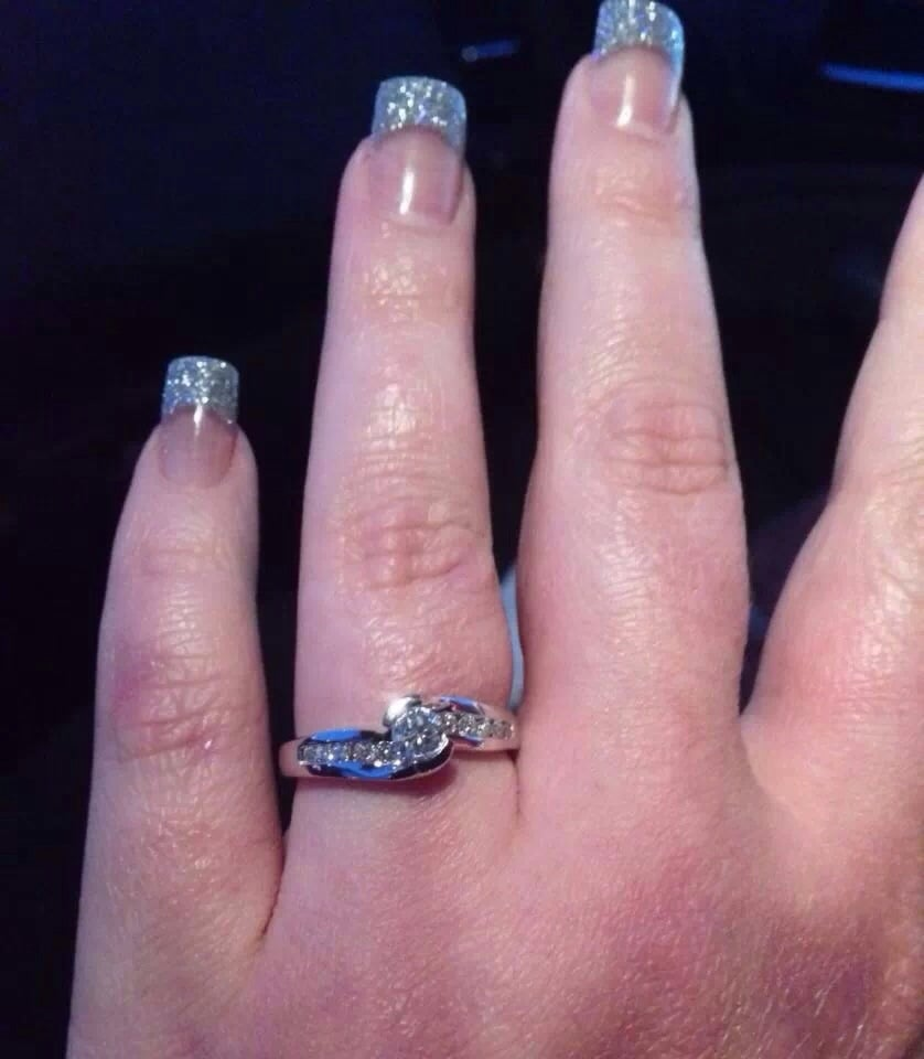 Michael made my nails match my engagement ring AND they lasted over ...
