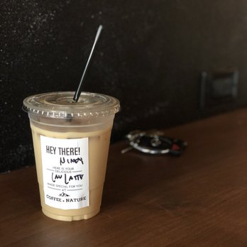Photo Of Coffee Nature Costa Mesa Ca United States Iced Lavender Latte