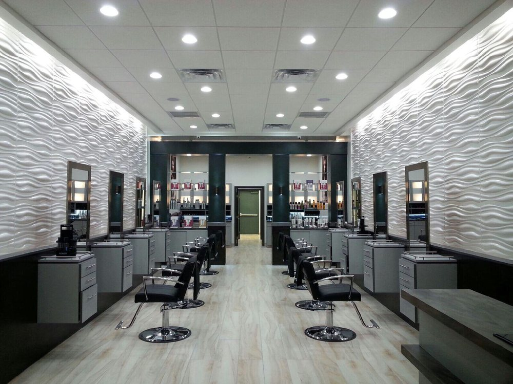 Modern salon 11 photos hair salons 13176 w lake for Photo salon design moderne