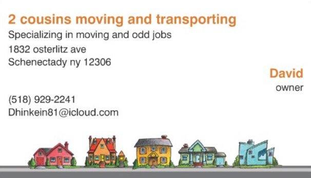 2 Cousins Moving and Transporting: 1832 Osterlitz Ave, Schenectady, NY