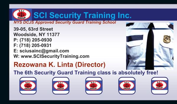 S C I Security Training 3905 63rd St Woodside, NY Security