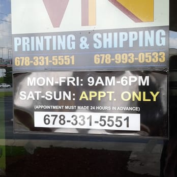 Vn printing printing services 5430 jimmy carter blvd norcross photo of vn printing norcross ga united states not open on weekends malvernweather Choice Image